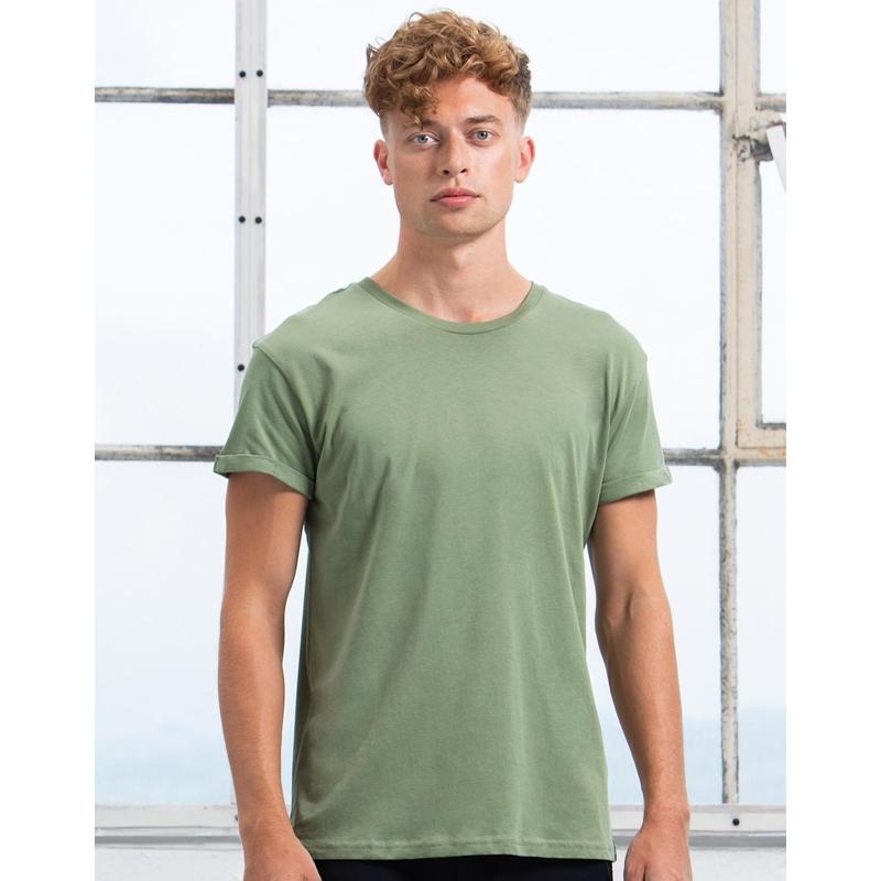 Meeste T-särk Organic Roll Sleeve T