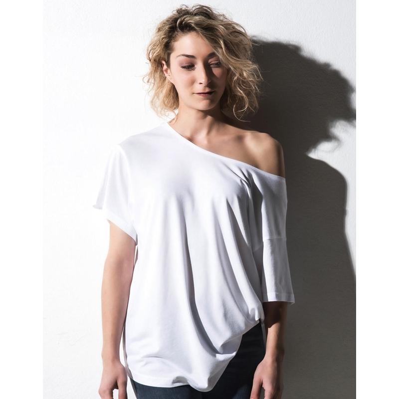 Naiste T-särk Kate Viscose-Cotton Fashion Boxy