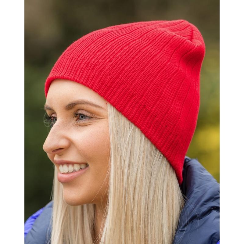 Kootud müts Delux Double Knit Cotton Beanie