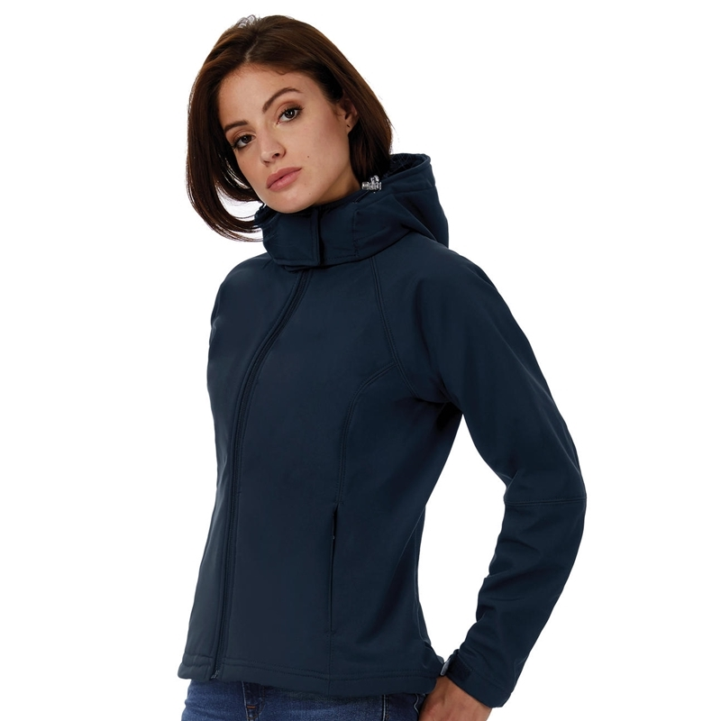 Naiste softshell Hooded