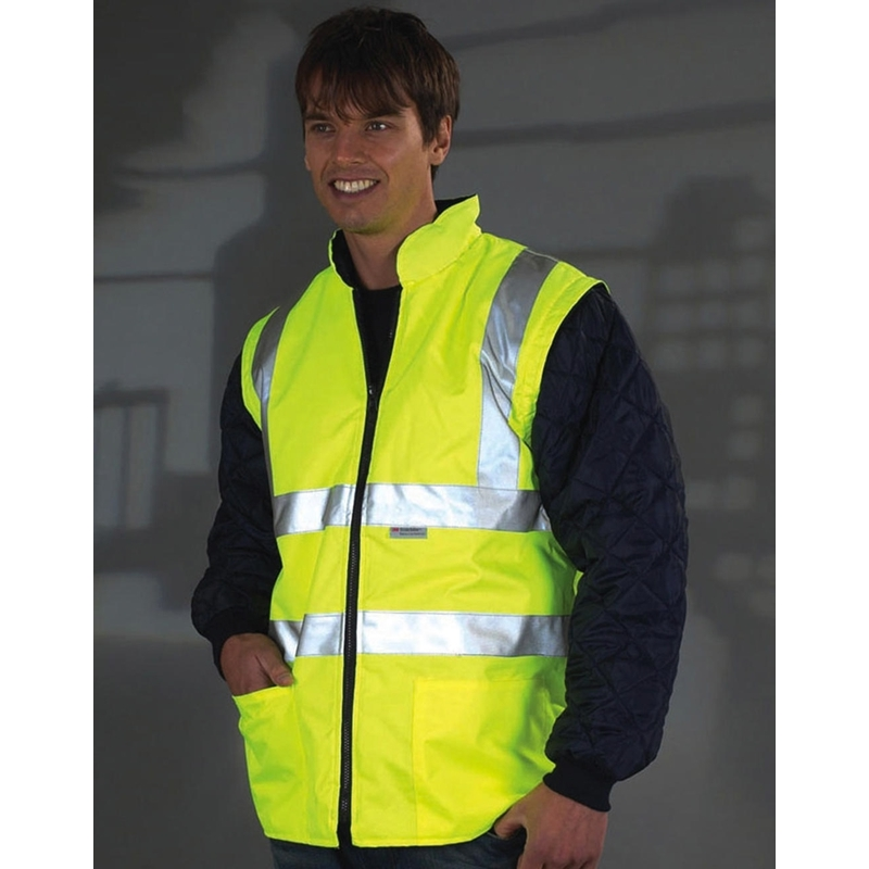Helkurjope Fluo Quilted with Zip-Off Sleeves