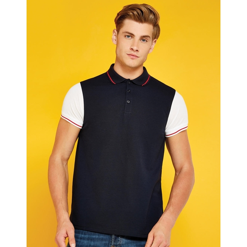 Meeste polo Fashion Fit Contrast Tipped