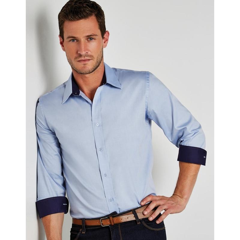 Meeste triiksärk Tailored Fit Premium Contrast Oxford