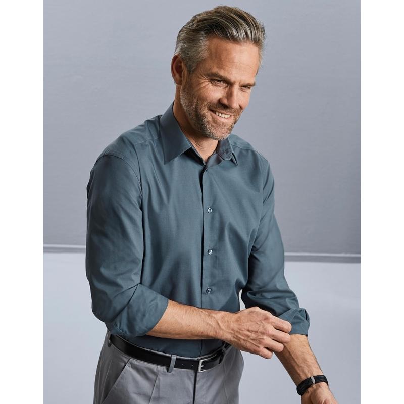 Meeste triiksärk Tailored Poplin LS