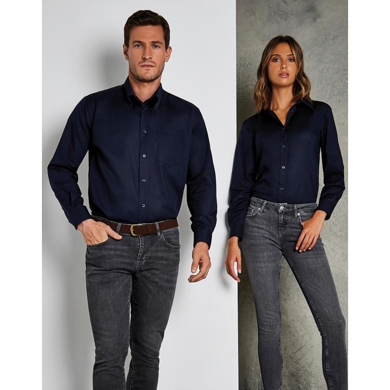Naiste triiksärk Tailored Fit Workwear Oxford