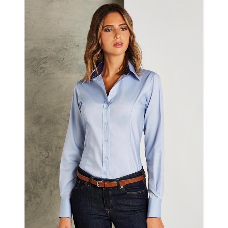 Naiste triiksärk Tailored Fit Premium Contrast Oxford