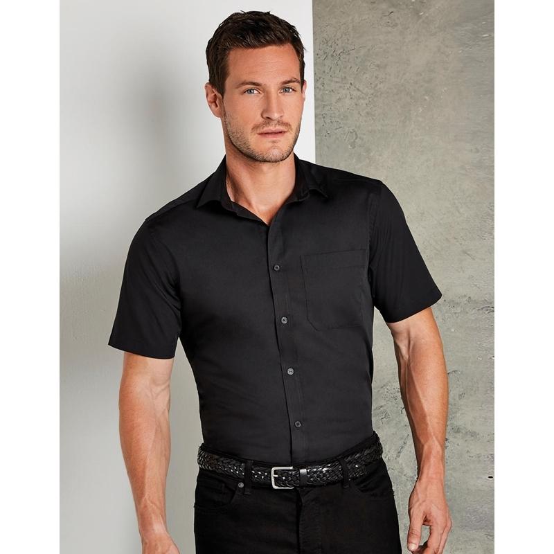 Meeste triiksärk Tailored Fit Poplin SSL