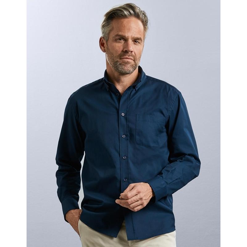 Meeste triiksärk Long Sleeve Classic Twill