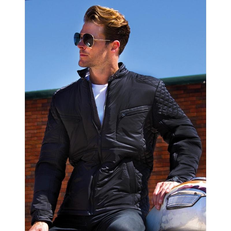 Meeste jakk Biker-Style