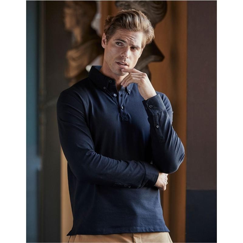Meeste polo Fashion LS Luxury Stretch